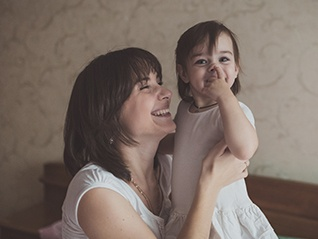 An image of a mother with her child after women's counselling therapy.